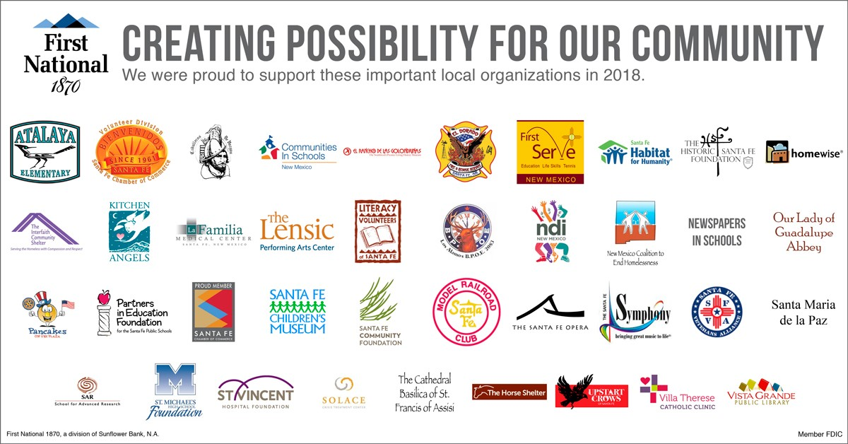 logos of local philanthropy efforts